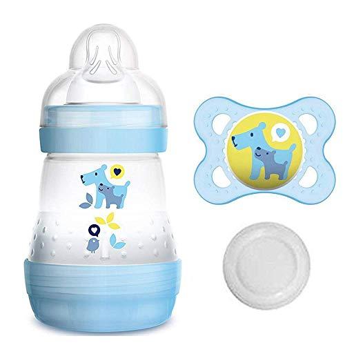 MAM Starter Set Boy // Anti Colic fles 160 ml // incl. zuiger maat 1 vanaf de geboorte // incl. MAM Original