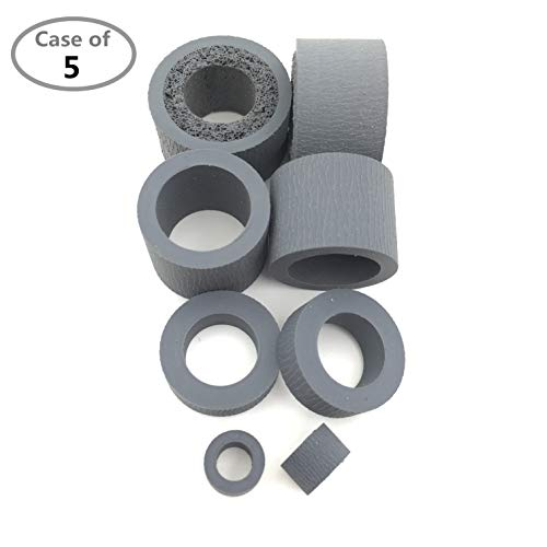 Buy Bargain Case of 5 Packs,OKLILI PA03708-0001 Pickup Pick Roller Tire Brake Roller Tire Compatible...