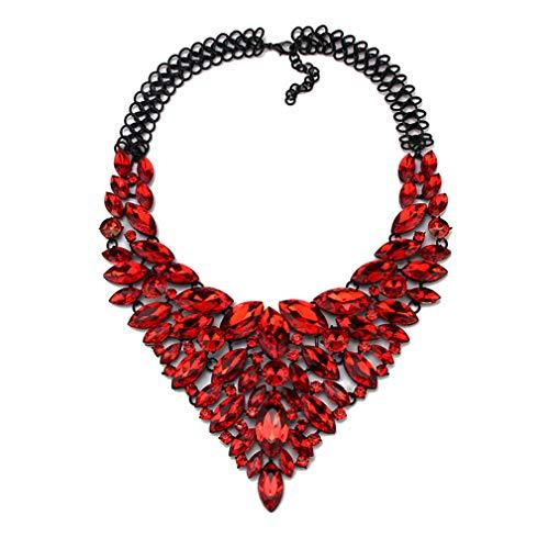 Ai.Moichien Halskette Strass Chunky Marquise Schnitt Chain Schmuck Frauen Schlüsselbein Brautkleid Verzierte Party Elegante Accessoires