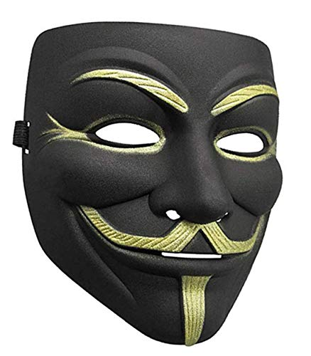 Lot V For Vendetta Mask White Guy Fawkes Anonymous Party Masker Dress Cosplay