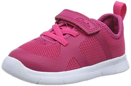 Clarks ATH Flux T, Zapatillas Niñas, Raspberry Textile, 22 EU