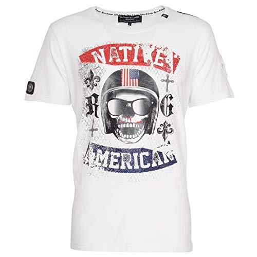 T-Shirt American Skull White S