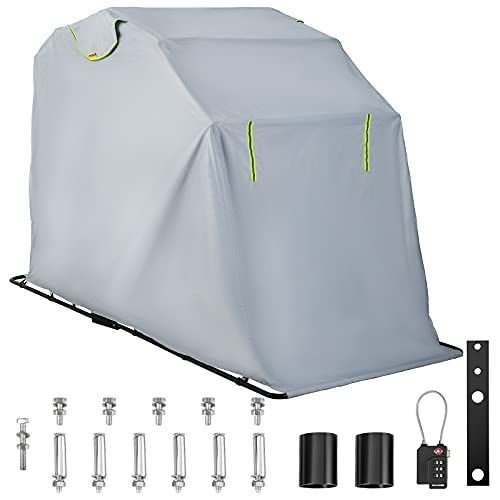VEVOR Motorcycle Shelter, Waterproof Motorcycle Cover, Heavy Duty Motorcycle Shelter Shed, 420D...