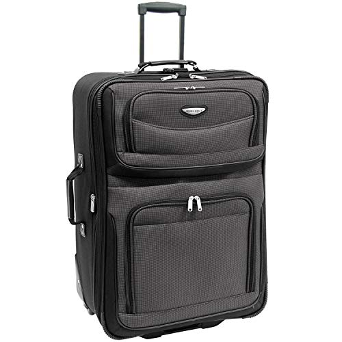 Travel Select Amsterdam Expandable Rolling Upright Luggage, Gray, Checked-Large 29-Inch