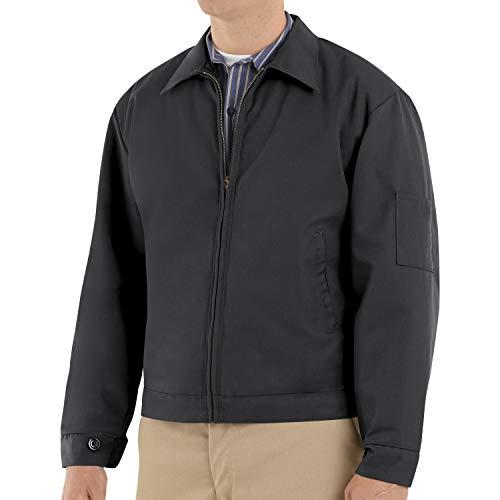 Red Kap Men's Slash Pocket Quilt-Lined Jacket, Black, Medium