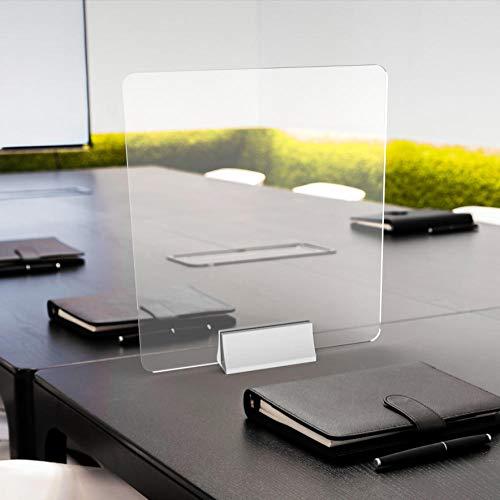 CYGJ Partición de pantalla de escritorio, transparente, 40 x 45 cm, para supermercados, gasolineras y tiendas