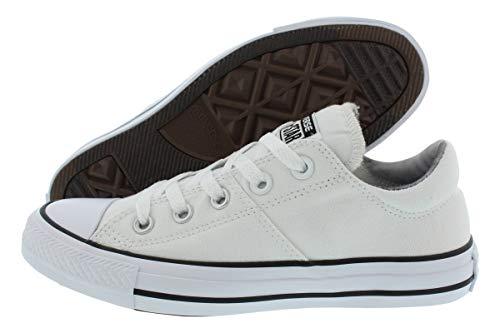 Converse Women's Madison Utility Chambray Low Top Sneaker (White/White/Black, 10 B(M) US)