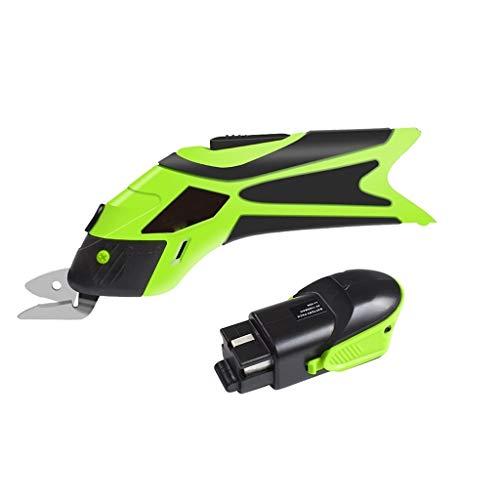 WYZ Scissors eléctricos 4V Motosierras de Costura inalámbrica Carga USB CORTURIDAD Herramienta DE Potenza INTERNABLE para PODÓN DE TÉCNICA DE Cuero (Color : 2 Batteries Set)