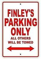 レトロな金属製の壁の装飾アート、フィンリーの駐車場は他のすべての車両のみ牽引されます