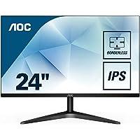 "AOC 24B1XH - Monitor IPS de 24"" con Pantalla Full HD (IPS, VGA, HDMI, Sin Bordes, FlickerFree y Low Blue Light)"