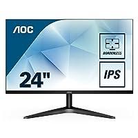 "AOC 24B1XH - Monitor de 24"" FHD (IPS, VGA, HDMI, Sin Bordes, FlickerFree y Low Blue Light) Negro"