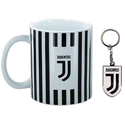 Offizielles FC Juventus (Serie A) Keramiktasse und Schlüsselanhänger, 313 ml