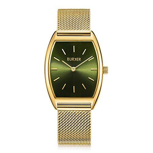 Burker Megan Dameshorloge | 30 mm horloge voor dames met wijzerplaat | vrouwen kwarts polshorloge waterdicht (30M) | kleine platte horloge behuizing – horloges armband inbegrepen