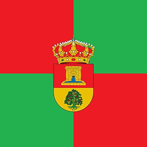 magFlags Bandera Large «Bandera Cuadrada de proporción 1 1, cuartelada de Rojo y Verde | 1.35m² | 120x120cm