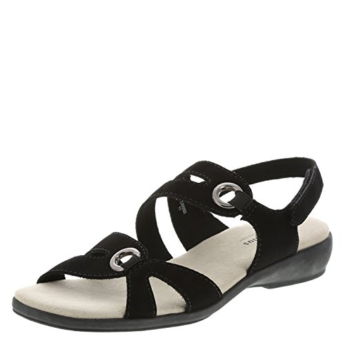 Comfort Plus by Predictions Women's Black Women's Peggy Strappy Sling 9 Wide
