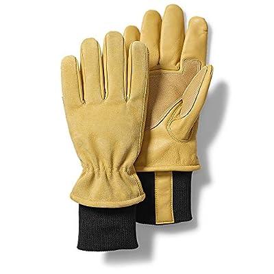 Eddie Bauer Mens Mountain Work Gloves, Natural Regular L