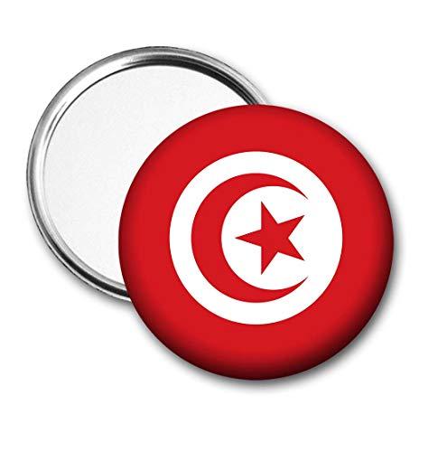 Tunesië Vlag Pocket Spiegel voor Handtas - Handtas - Cadeau - Verjaardag - Kerstmis - Stocking Filler - Secret Santa