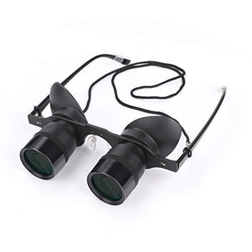 Aceshop Fishing Binocular Glasses Professionelle Freisprech-Fernglasbrillen mit Einstellbarer Entfernung für Jagd/Angeln/Konzerte/Sport/TV/Sightseeing Hochauflösende Operngläser