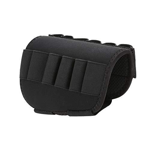 DyAn Titular del Cartucho, Tactics 12 Shells Shotgun Cartridge Pouch Rifle Buttstock Holder para La Caza del Ejército Militar