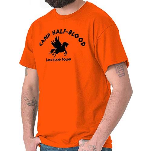 Brisco Brands Camp Half Blood Greek Mythology Graphic T Shirt Men or Women Orange