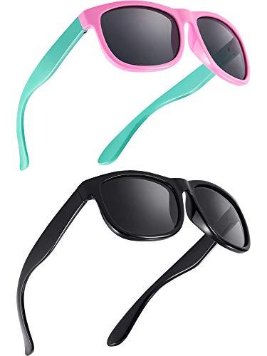 2 Piezas de Gafas de Sol Polarizadas de Niños Flexibles de Goma Gafas de Sol de Niños, Edad de 2-10 (Color A)