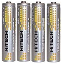 Hitech - Rechargeable AAA batteries for Creative Zen Nano Plus 1 GB / Creative MuVo V100 2 GB MP3 Player