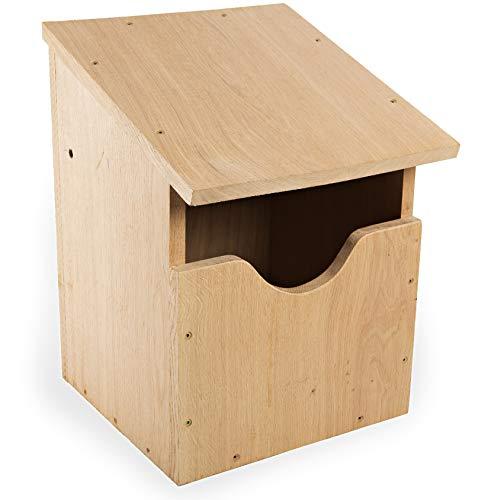 NEST TO NEST Nistkasten I Vogelhaus Eichen Holz I Nistkästen für Eulen, Falken I Brutkasten für vögel I Premium Qualität