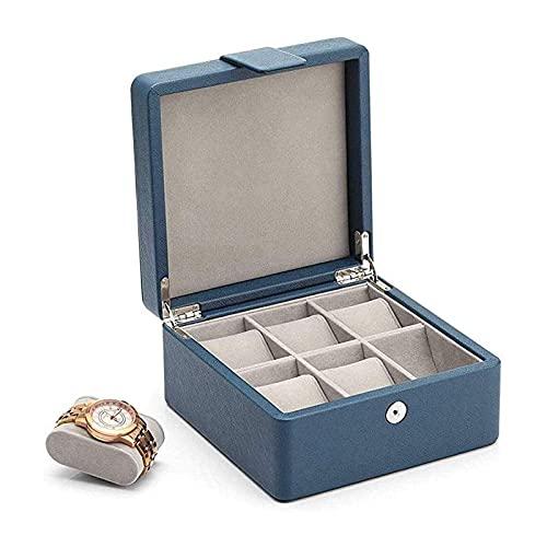 WHZG Caja joyero 6 Slot Wooden Watch Box Mostrar Caso Organizador Joyería de Vidrio Almacenamiento Black Watch Box Organizador Joyas