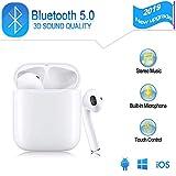 Écouteurs Bluetooth V5.0, Casque sans Fil Touch réduction de Bruit stéréo 3D HD...