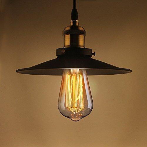 Lámpara de techo colgante retro B2ocled de metal industrial E27
