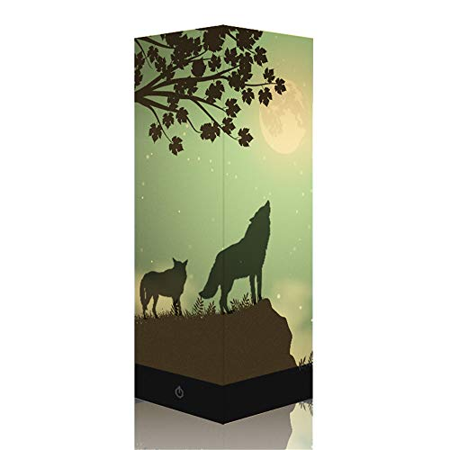 Zozofay Wolf Shadow Lamp USB Charging Touch Switch 3D Night Light LED Table Lamp Creative Illusion Lamp Bedroom Decoration Christmas Gift for Kids and Adults