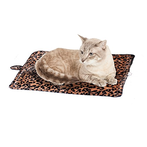 Cat Bed - Purrfect Thermal Cat Mat Leapord Prints (Brown Leopard)