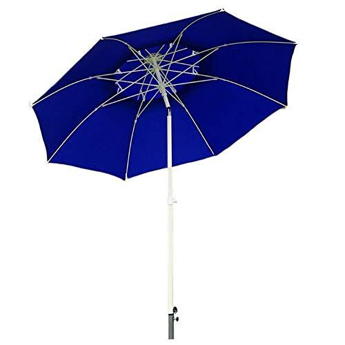 ZEH Parasol Exterior con botón de inclinación y manivela, Sombrilla for el Patio de la Tabla Balcón, Cubierta, Patio, Piscina, Jardín (Color: Beige) FACAI (Color : Blue)