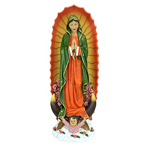 Design Toscano JQ9454 The Virgin of Guadalupe Religious Statue, Large, Full Color