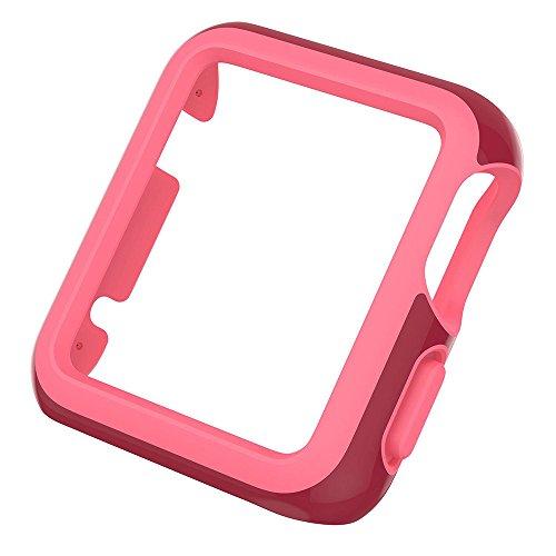 Speck-Custodia per Orologio, 38 mm, Motivo: Apple, Colore: Rosa/Rosso Vino