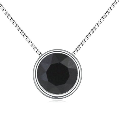 Daesar Schmuck Damenkette Vergoldet Runde Halo Halskette Zirkonia Strass Anhänger Halskette für Frauen