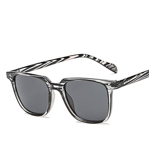 SHANGYUN Hombres Gafas de sol cuadradas Deportes al aire libre Gafas de conducción Vintage Gafas Accesorios Gafas de sol C4Gray
