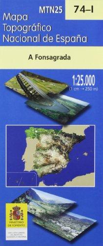 Mapa a fonsagrada 74-I 1:25000