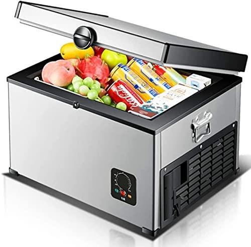 FCXBQ Nevera con compresor, Nevera portátil con congelador para Acampar, 24V / 12V / 220-240V (35L / 45L / 65L) Nevera para Coche, Nevera para Coche, para picnics de Acampada de Viaje (tamaño: 65L)