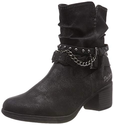 Dockers by Gerli 35cp308-100 Ankle Boots/Boots Women Black - 6.5 - Mid Boots Shoes