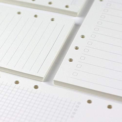 45 Vellen Planner voegt Plain Filler Papier A5 A6 Maat, 6 Gaten Binder Refill Journal Planner voegt Maand Week Planner WJSZ-A-002