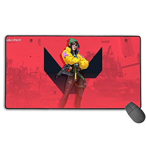 Killjoy Extended Size Professional Gaming Mouse Pad Valorant Game Computer Keyboard Pad Mat Ultra Thick 3Mm 11.8X31.5 in(30Cm X 80Cm)