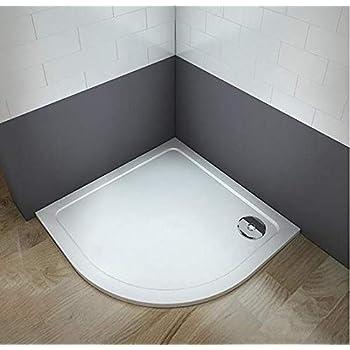 Plato de ducha redondo/circular piedra artificial revestimiento acrílico para mamaparas de baño (90x90cm): Amazon.es: Bricolaje y herramientas
