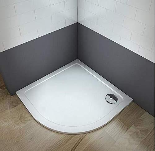 Plato de ducha redondo/circular piedra artificial revestimiento acrílico para mamaparas de baño (90x90cm)