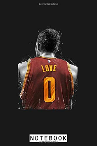 Kevin Love Notebook: Planner, Diary, Journal, Matte Finish Cover, Lined College Ruled Paper, 6x9 120 Pages