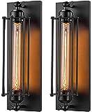 QTWW Aplique de Pared Industrial E26 E27 Edison Vine Aplique de Pared Lámpara de Pared Antigua Accesorios Bar de Noche Bar Restaurante Hotel Iluminación Decoración 2 Unidades