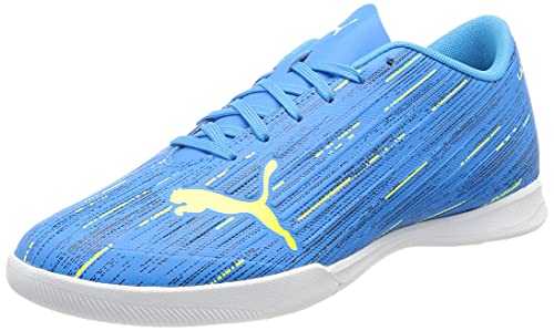 PUMA Chaussures de Futsal Ultra 4.2 It pour Homme - Bleu - Alerte Bleue et Jaune, 43 EU