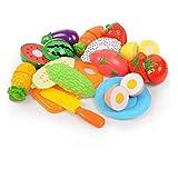shentaotao Verduras Hijos de Frutas Jugar de la Cocina de Corte de Alimentos Pretend Juguete Set de Juego Educativo con la Herramienta de Juguete Tabla de Cortar 13pzas