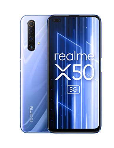 OPPO Realme X50 5G (6GB+128GB) グローバル版 / 6.57 inch / 120Hz / Dual SIM / 48+8+2+2MP Quad Camera/Google play/日本語対応/SIMフリー (Ice Silver/アイスシルバー)