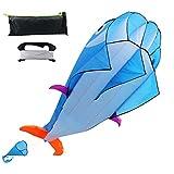 Best Kite Kit For Kids - Kite 3D Dolphin Kite for Kids Parafoil Kites Review